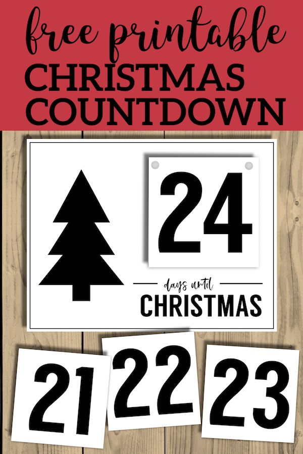 How Many Days Until Christmas Countdown.Free Printable Days Until Christmas Countdown Christmas