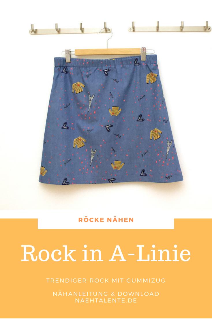 Rock in A-Linie Nähen - Anleitung & Schnitt