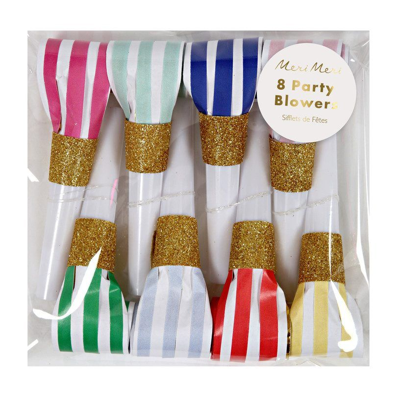 Candy Striped Party Blowers 8ct