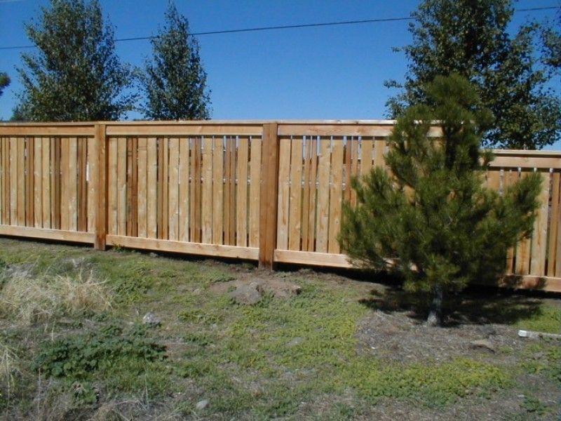 Fence Semi Private Fence Design Patio Fence Backyard Fences