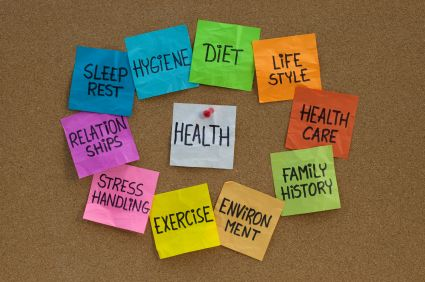 health concept cloud of related words and topics healthy living