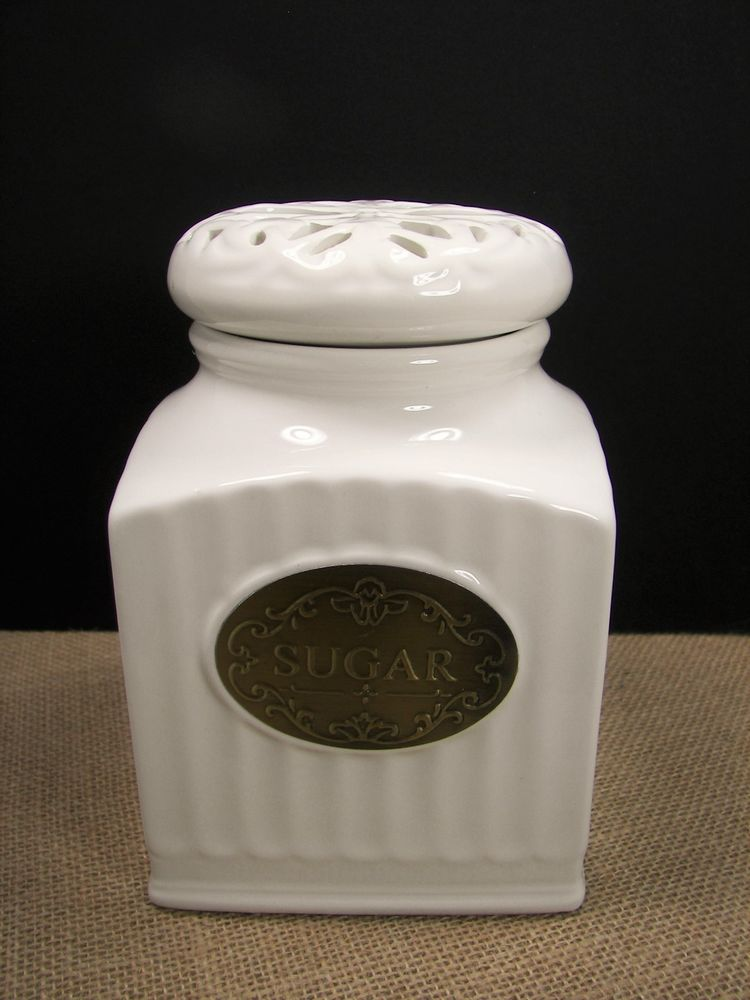 thl kitchen canisters thl off white ceramic shabby chic sugar canister w openwork lace design lid thl sugar 2220