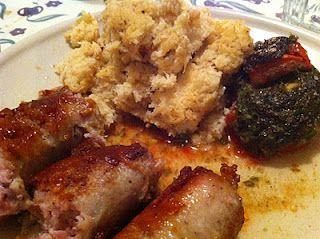 Roasted Mashed Cauliflower, sausage, Tomatoe w/ basil Pesto! Ma Vie est Belle: October 2011