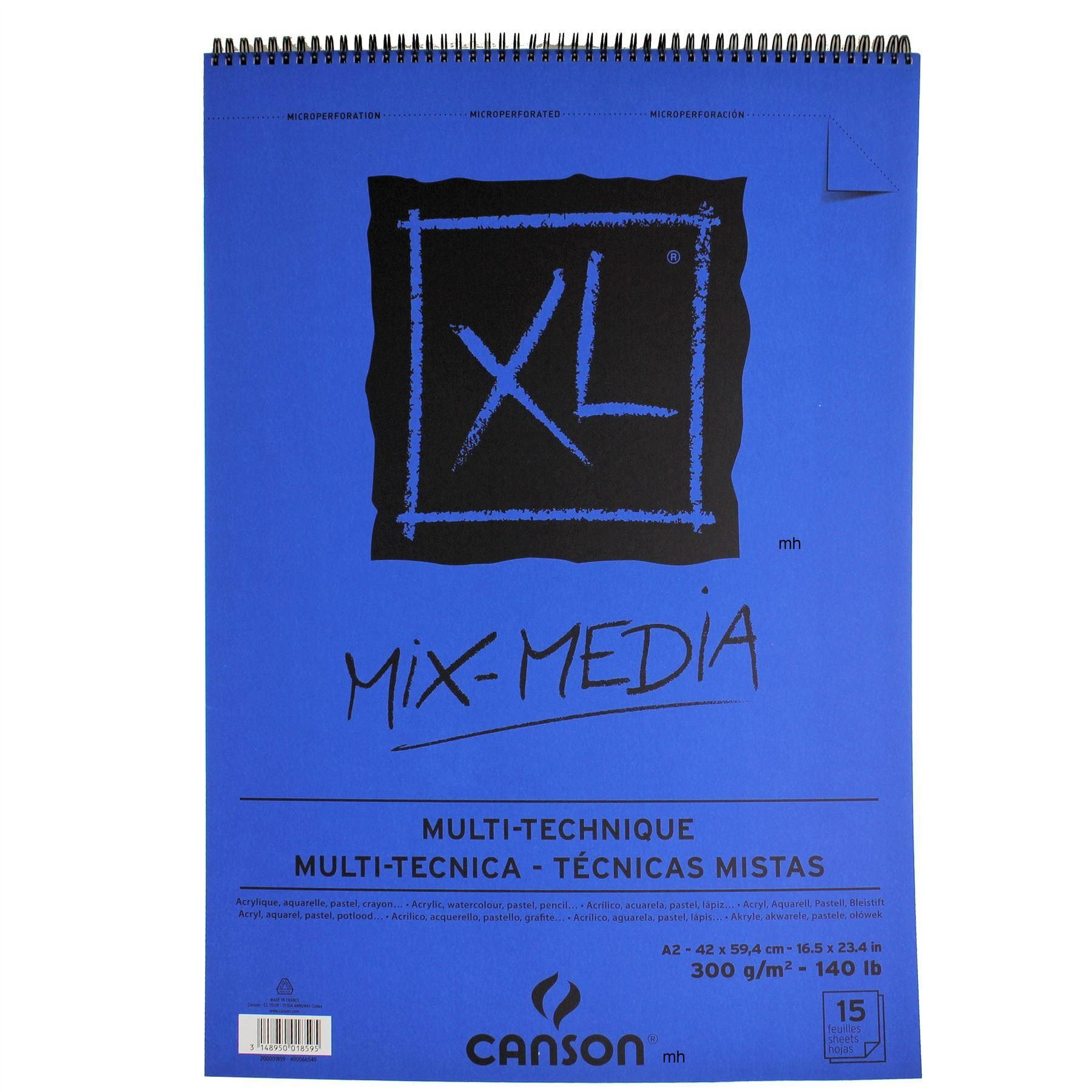 Canson Xl Mixed Media Paper Pad 300gsm 30 Sheets Sketch Paper