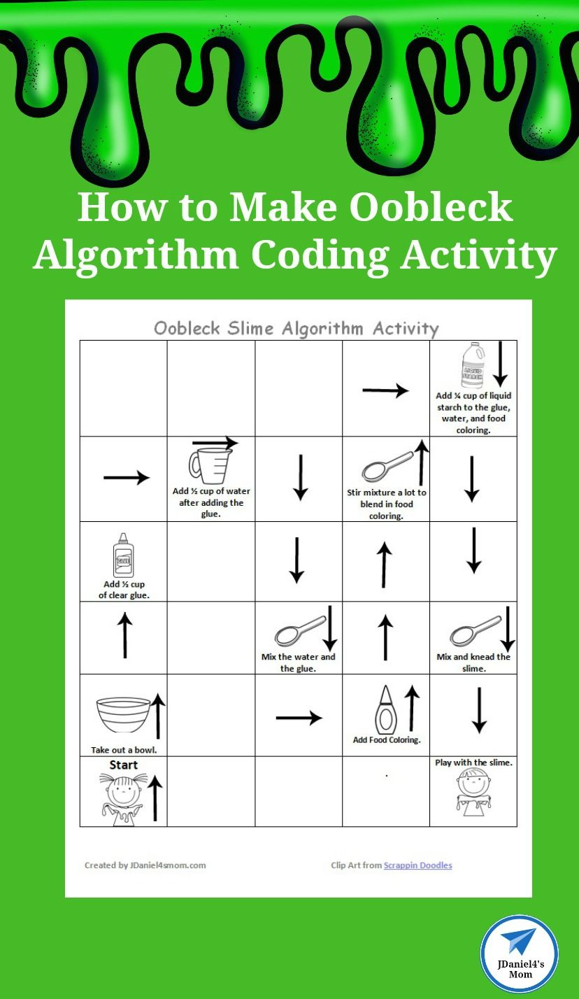 How To Make Oobleck Algorithm Coding Activity Jdaniel4s Mom How To Make Oobleck Graphing Activities Coding [ 1428 x 828 Pixel ]