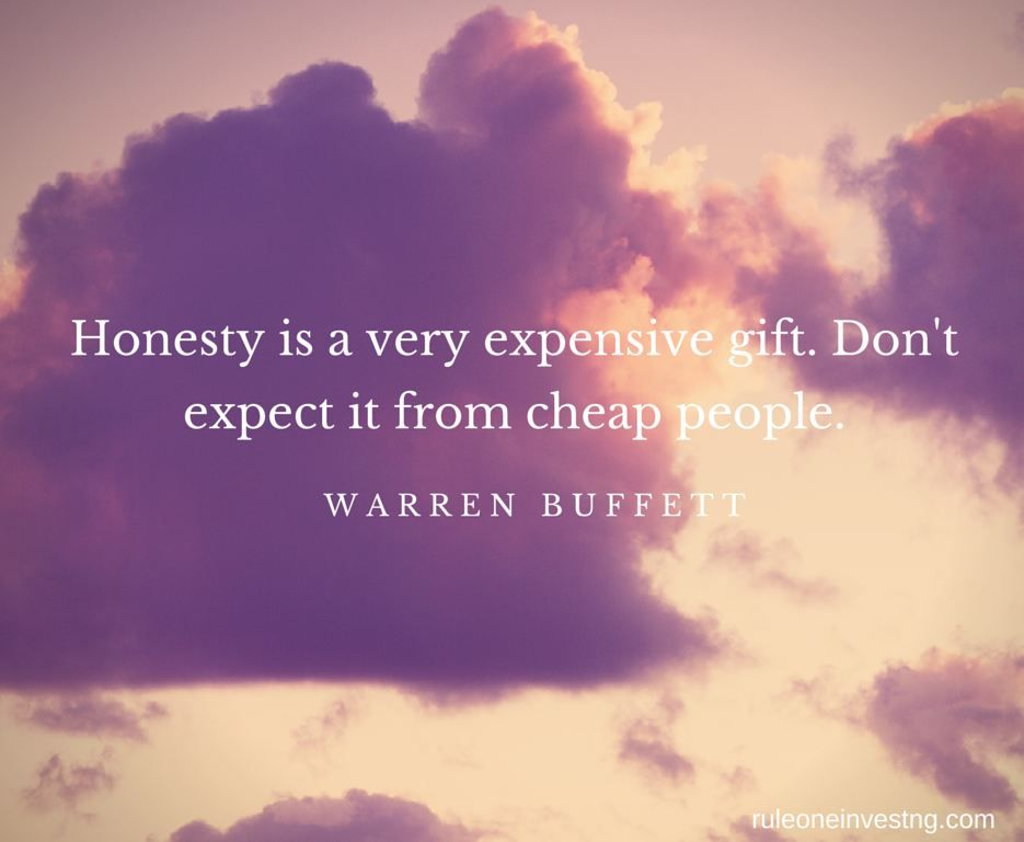 Thought of the day on finding honesty in others. . . #Rule1