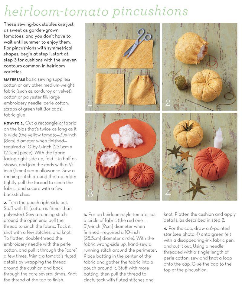 Martha Stewart Heirloom Tomato Pincushions Use As Furniture Ls Crafts Fall Decor Diy