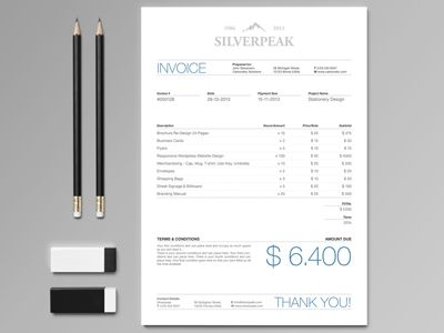 Silverpeak Invoice https   creativemarket com andre28 16641     Silverpeak Invoice by