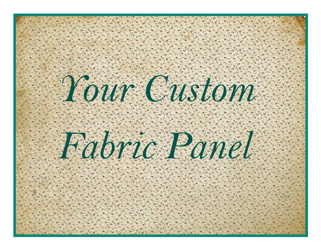 Your Quote Fabric Custom Fabric Panel Quilt Square Personalized