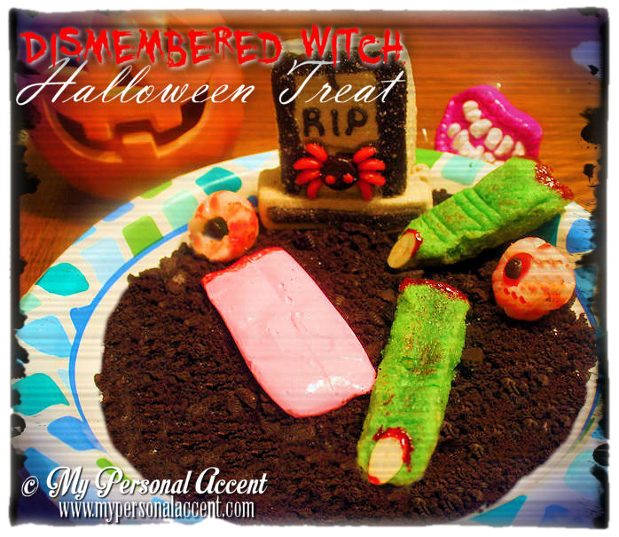 Dismembered Witch Halloween Treats by My Personal Accent #halloween #creepyfood #halloweenfood #witchfingers