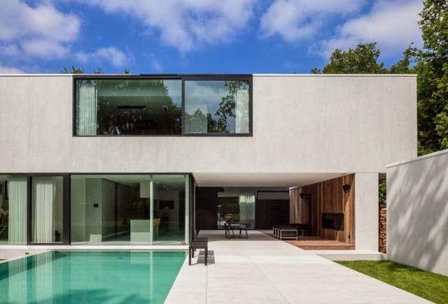 Villa D_Keerbergen, Belgium, 't Huis van Oordeghem, Thomas de bruyne, ysenbrandt, simplicity, minimalist, exterior, outdoor design, outdoor furniture