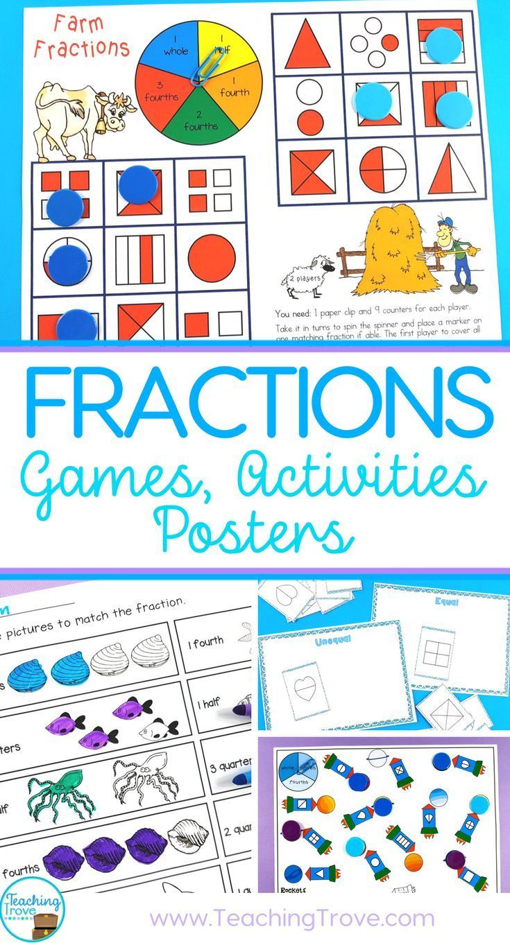 Fraction Games, Activities, Worksheets and Posters   Worksheets ...