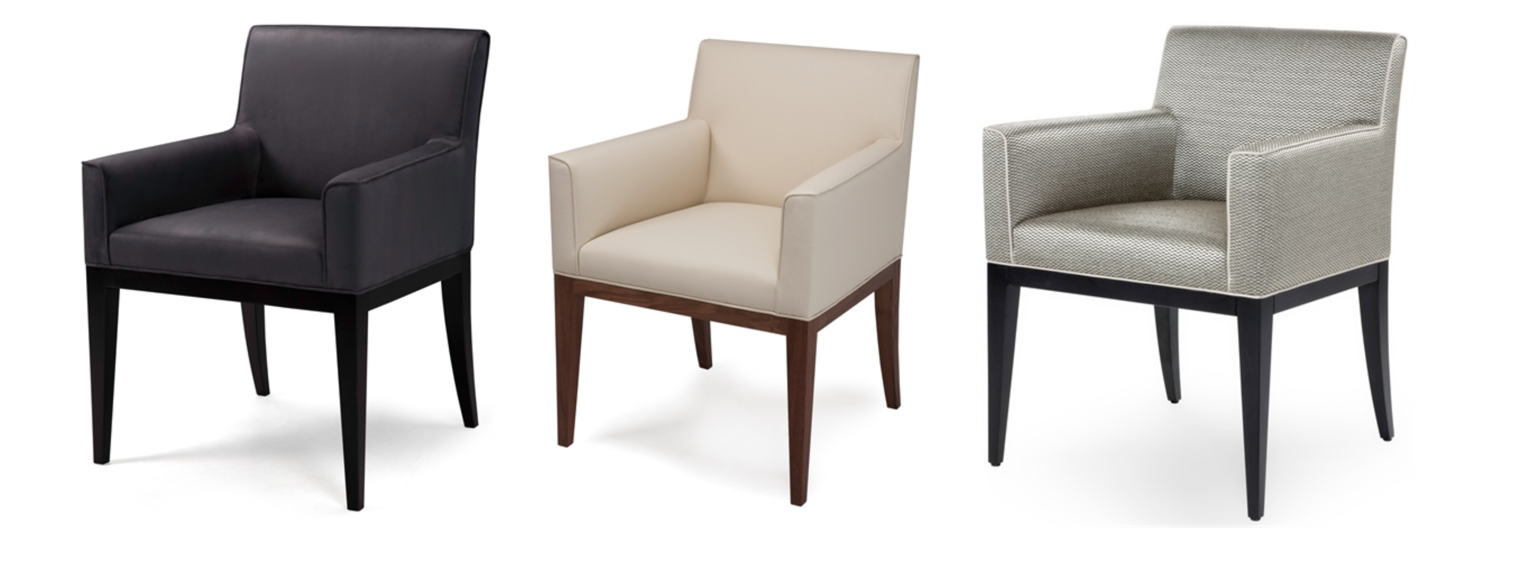 Byron Carver is a commanding dining chair with a contemporary