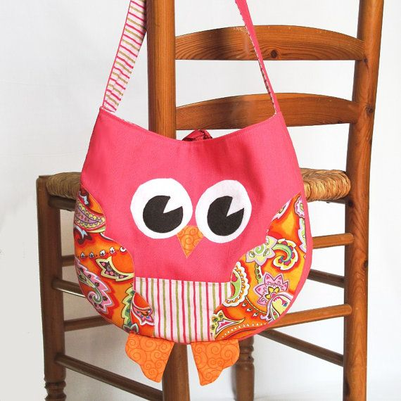Funky Little Owl Bag, immediate download of pdf sewing pattern ...