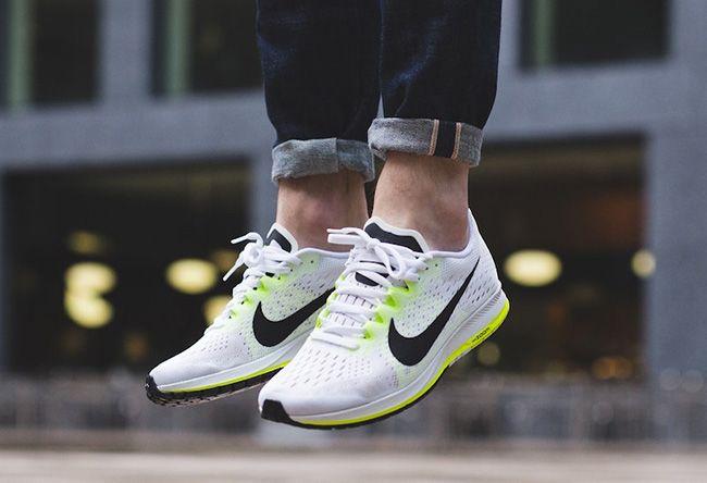 Nike Men Air Zoom Flyknit Streak 6 Black White On Feet TopDeals