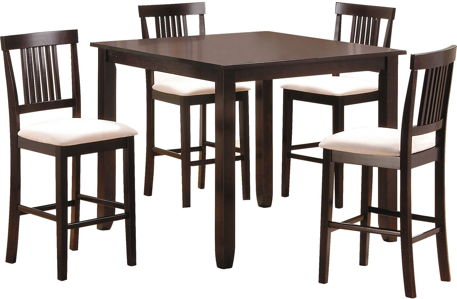 Nicole 5 Piece Counter Height Dining Package