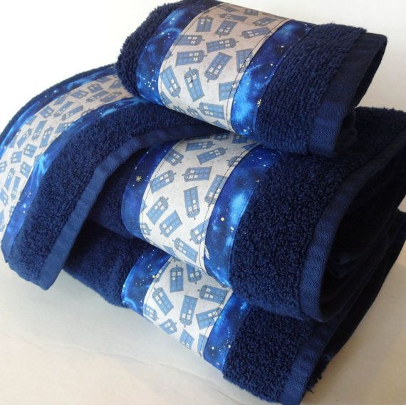 Etonnant Dr Who 4 Piece Set. Towel Set. Dr Who, Doctor Who, Navy Towels, Dr Who Gift,