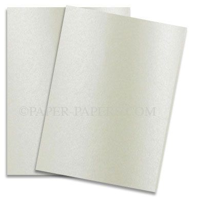 White Lightweight Cardstock 67#  8.5 x 11 25 Sheets