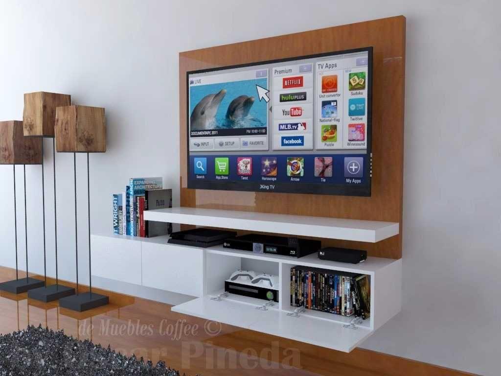 Mueble De Tv Ref Mural Decoracion Planos Ocultar Cables Imagenes