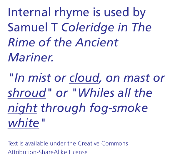 Internal Rhyme - Google Search | Poetry and Poetic Devices ...