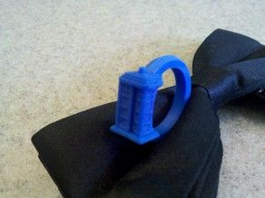 3d Printed Tardis Ring Tardis Ring Tardis Doctor Who