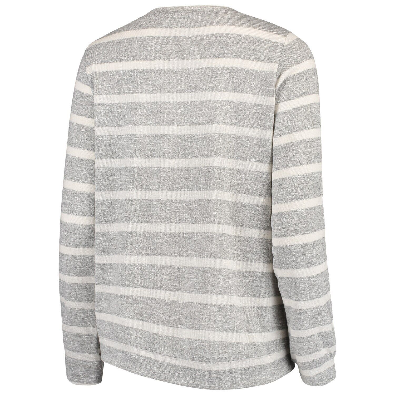 Women's Heathered Gray West Virginia Mountaineers Piko Lace-Up Pullover Sweatshirt #westvirginia
