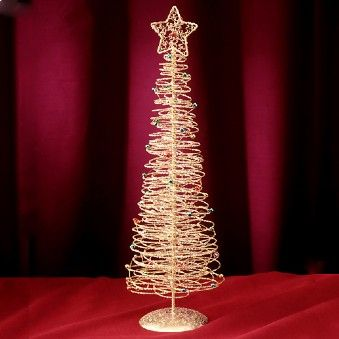 Gold Wire Tabletop Christmas Tree 885874 Tabletop Christmas Tree Christmas American Sales