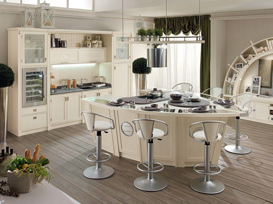 Lackierte Küche aus Holz mit Kücheninsel BOLINA by Caroti Will ich ...