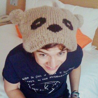 Awww Harry in his hat!