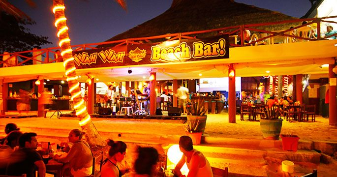 Caribbean Beach Bars Wah Wah Beach Bar, Playa Del Carmen, Mexico  Playa Del Carmen Travel -9611