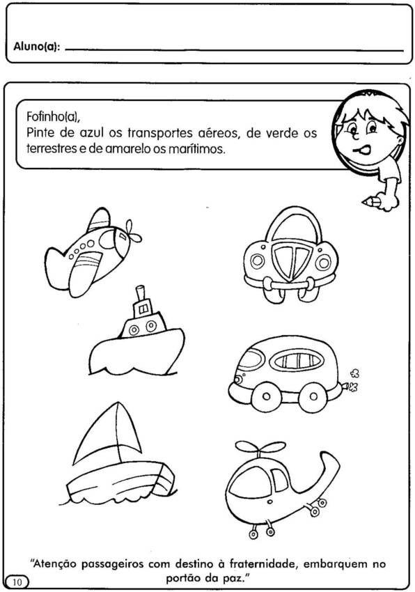Conhecido Na sala de aula: Os meios de transportes na educação Infantil  BC64