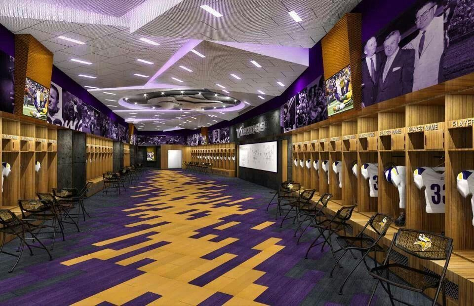 New Vikings Stadium Inside The Locker Room Plan