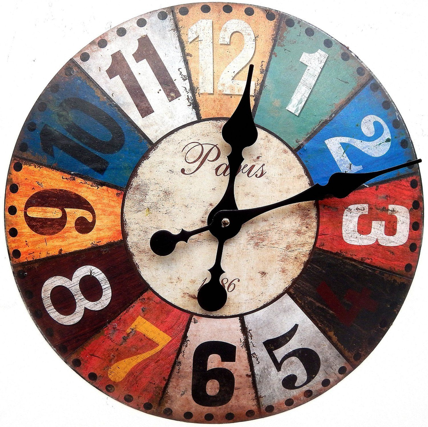 Reloj de pared diseno paris 1886 muy grande decoracion - Reloj pared diseno ...