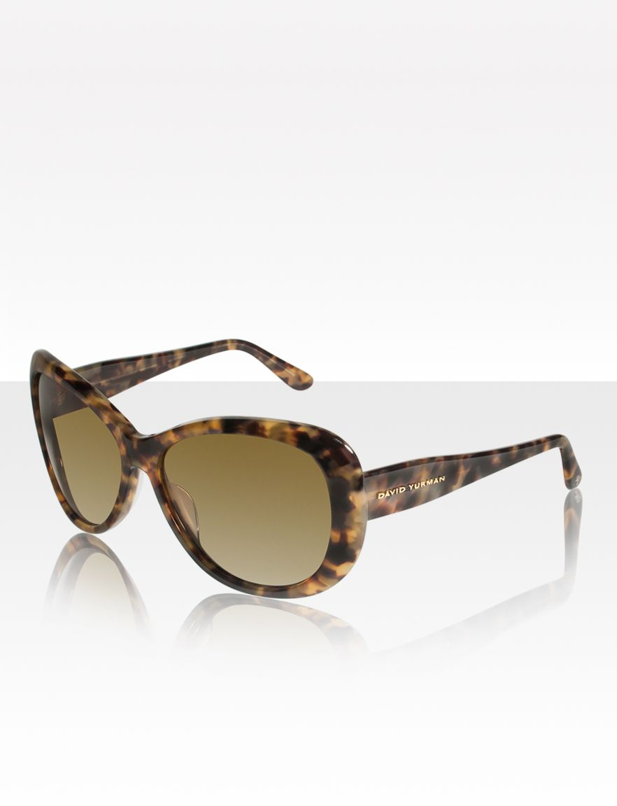 Floating Logo Polarized Sunglasses, Tortoise Green