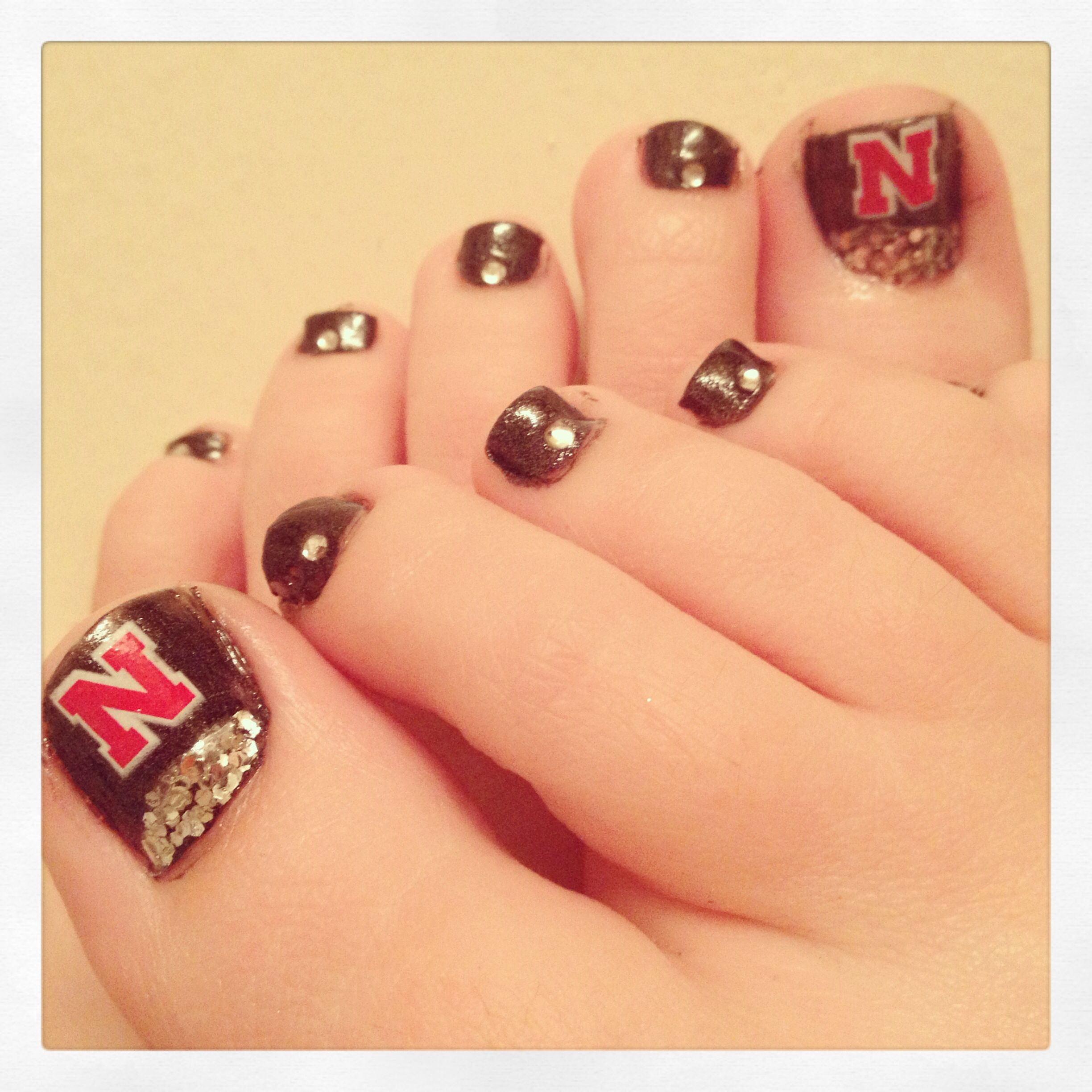 Nebraska Huskers nail design! | Nail Designs | Pinterest | Pedicures ...