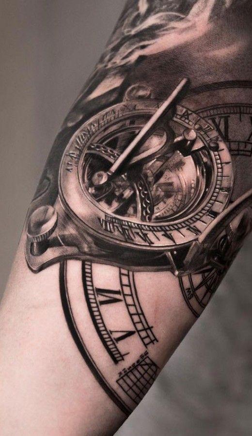 clock tattoo design