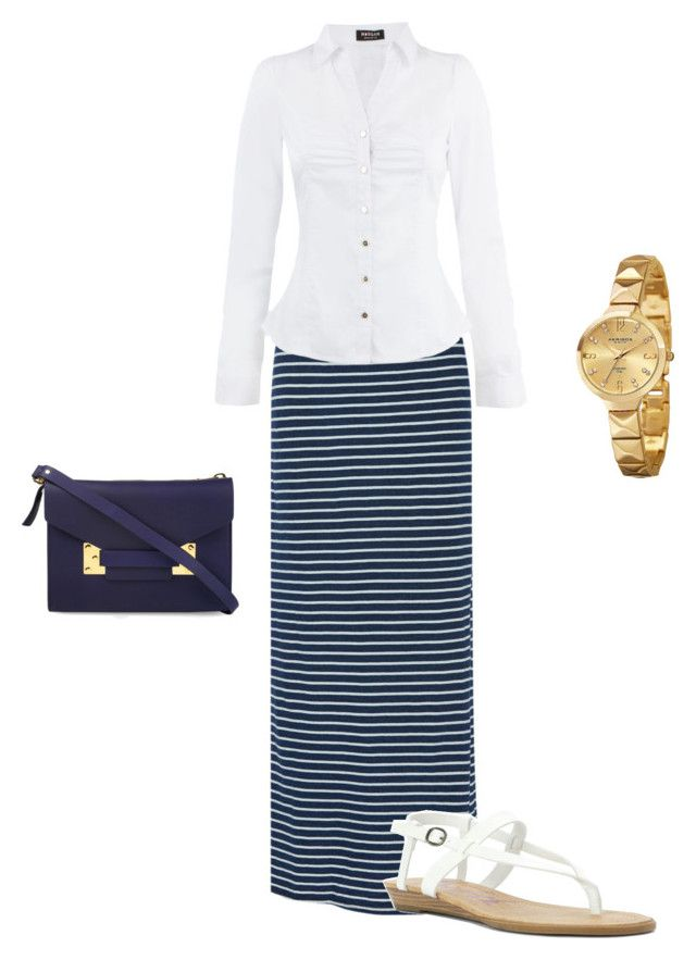 """Pentecostal Outfit"" by daisnalopez on Polyvore featuring Splendid, Morgan, Blowfish, Sophie Hulme and Akribos XXIV"