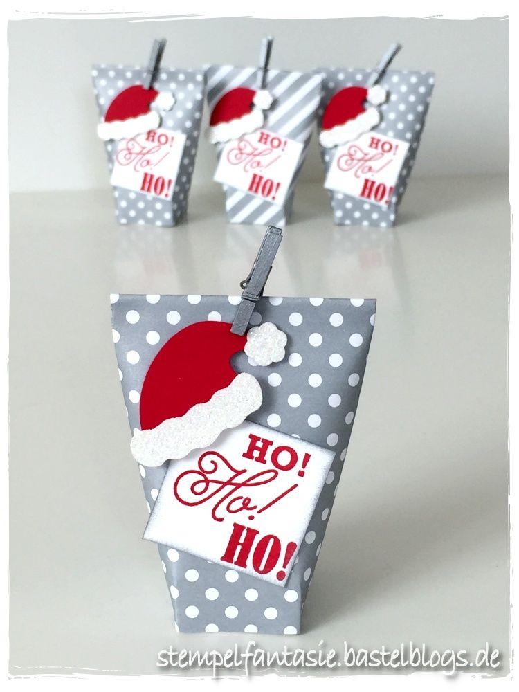 mini box in a bag mit weihnachtsm tze kleine geschenke. Black Bedroom Furniture Sets. Home Design Ideas