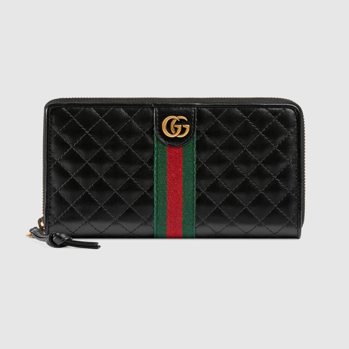 Leather Zip Around Wallet With Double G Gucci Women S Zip Around 5364500ykbt1060 Zip Around Wallet Gucci Leather Wallets For Women