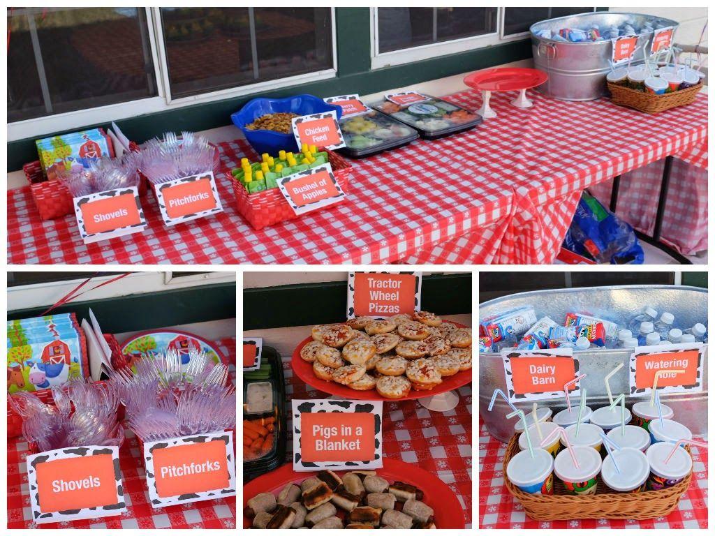 Diy Food Signs For A Farm Or Barnyard Themed Birthday
