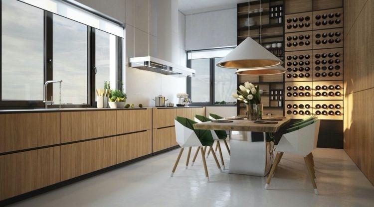 wein lagern minimalistisch-kueche-gestalten-essbereich-eames ...