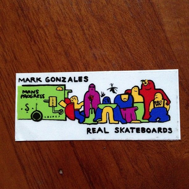 .@skateboardstickernerd101 | #realskateboards #gonz #markgonzales #mansprogress