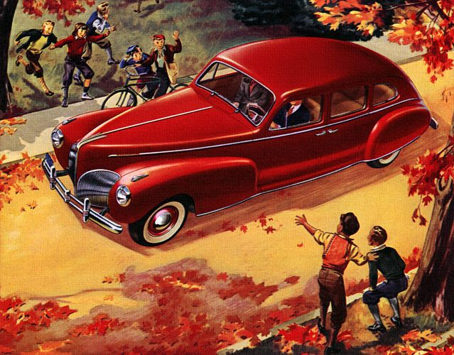 Plan59 :: Classic Car Art :: Vintage Ads :: 1941 Lincoln-Zephyr