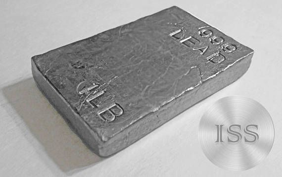 Fine 999 Lead 1 Pound Bar 1lb Of Pure Lead Collectable Ihmssilversupply Pure Products Hand Poured Handmade