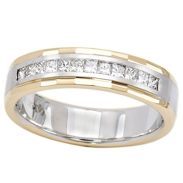 050ct Mens Diamond Ring in 14K Two Tone Gold Call for Price