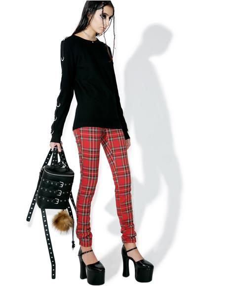 c7579daaff Tripp NYC High Waisted Plaid Pants ...Oi! Grab yer battle jacket 'N  stompin' boots, cuz tonight we're gunna f*xk shit up! These dope jeans  feature a ...