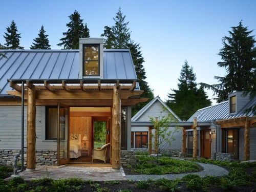 love the home with separate buildings idea | Project-The Ranch ...