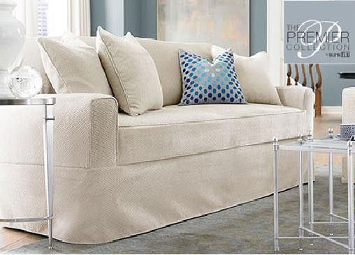 Sure Fit Acadia Separate Seat Petiti Sofa Slipcover Oyster Slipcovers For Chairs Slip Covers Couch Furniture Slipcovers