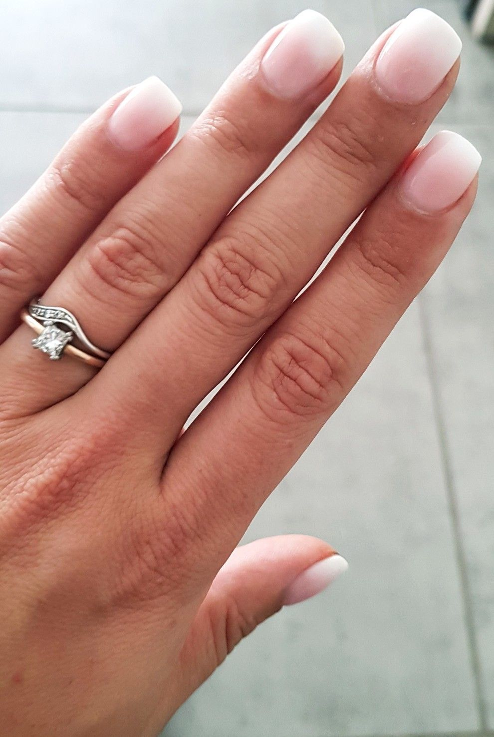 Loving These Ombre Gel Nails Wedding Vibes Pink White Ombre Gel Nails White Gel Nails Pink Ombre Nails