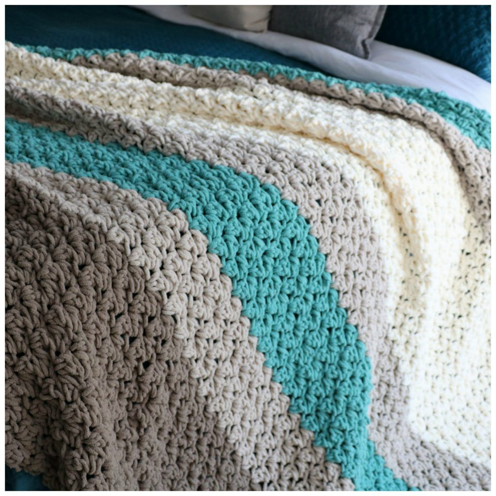Free Pattern To Crochet a King Size Farmhouse Blanket | crocheting ...